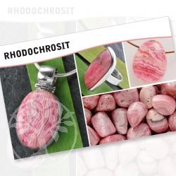 Rhodochrosite Mineral Stone Description Cards