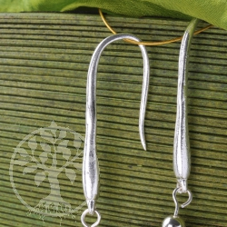 Earhook real Silver
