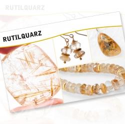 Rutilated Quartz Mineral Stone Description Cards