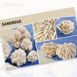 Sand Rose Mineral Stone Description Cards