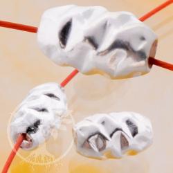 Silberperle Zapfen, gehämmerte Perle 925er 8x5mm