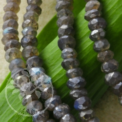Labradorite Necklace faceted A 4-5mm Sterlingsilver Clasp