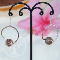 Moonstone Silver Earrings Corona