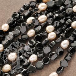 Turmalin Halskette Perle Turmalinkette mit Verschluß Silber925