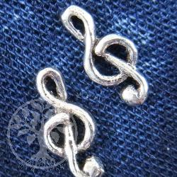 Ohrstecker Notenschluessel Silberohrstecker Violinenschluessel