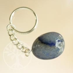 Schlüsselring Blauquarz Trommelstein
