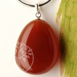 Carnelian pendant with loop 925
