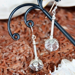 Crystal Quarz faceted Earrings Crystal Ice