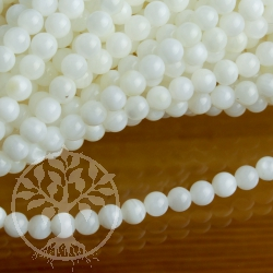 Mother of Pearl Nacre 3.5mm Ball Beads