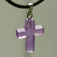 Amethyst Cross Pendant small