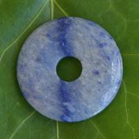 Blauquarz Donut 30mm Hell