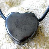 Haematit Herz aus natur Hämatit