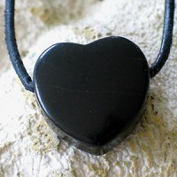 Onyx Heart Pendant 20 mm