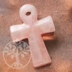 Ankh Kreuz aus Rosenquarz