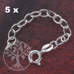 Extended Chain Silver 5 pcs