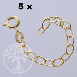 Extended Chain Gold-Plated 5 Pcs