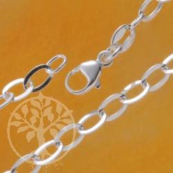 Silber Gliederarmband flache Glieder Charms Armband Silber