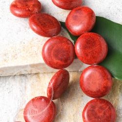 Red Coral Drag?e Beads