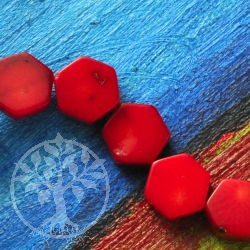 Coral Jewelry Beads Hexagon