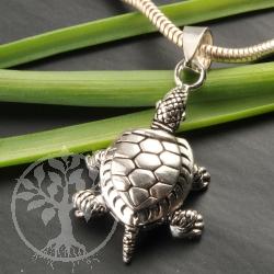 Silber Anhänger Landschildkröte