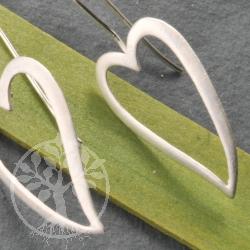 Silver Earring Heart