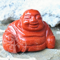 Red Jasper Gem Buddha Engraving