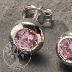 Ohrstecker Zirkonia rosa