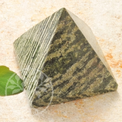 Serpentine Silver Eye Stone Pyramid