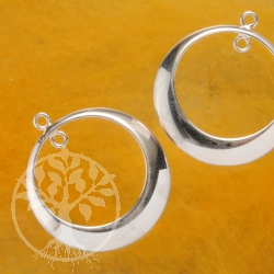 Zwischenteil Ring für Ohrringe Silber 925 Einzelteil Ohrschmuck