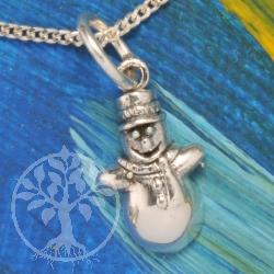 Silver Pendant Snowman