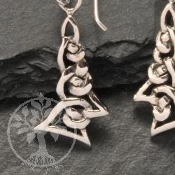 Silver Earring Knot