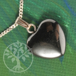 Haematite Heart Pendant Mini 3 pcs