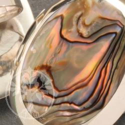 Silberring Perlmutt Bunt