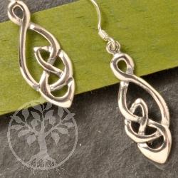 Silver Earring Knot oval