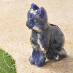 Sodalite Stone Engraving Cat