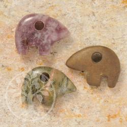 Sun Bear Fantasy Animals Gemstone Mix 3 pieces