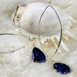 Lapis Lazuli Silver Earrings Lagrima