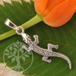 Silver Pendant Lizard