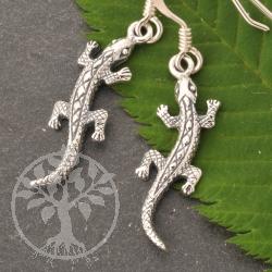 Silver Earpendant Lizard