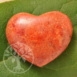 Red Coral Heart 40x40mm