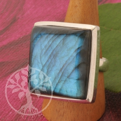 Labradorite Ring Square Big