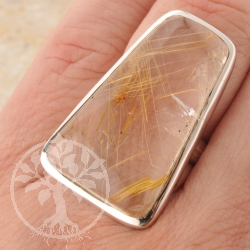 Rutilated Quartz Silverring