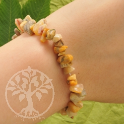 Crazy Lace Agate Chip Bracelet