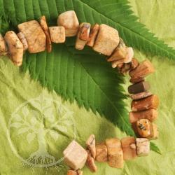 Landschaftsjaspis Armband mit kleinen Steinchen