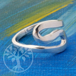 Silver Ring Curve Shape