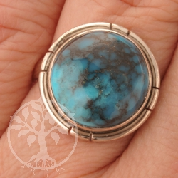Tuerkis Ring Silber 9350 Sterlingsilver 925 Echter Edelstein