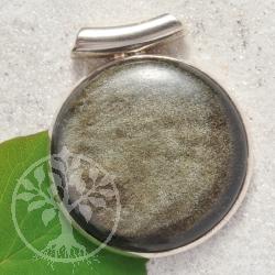 Gold Obsidian Silber Anhaenger
