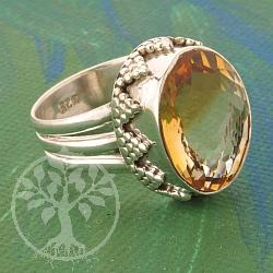 Citrine Silver Ring 925