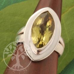 Prasiolithe Silver Ring