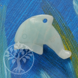 Dolphin Pendant Blue Amazonite small